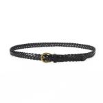 FSA016 Solid Color Woven Thin Belt, Black